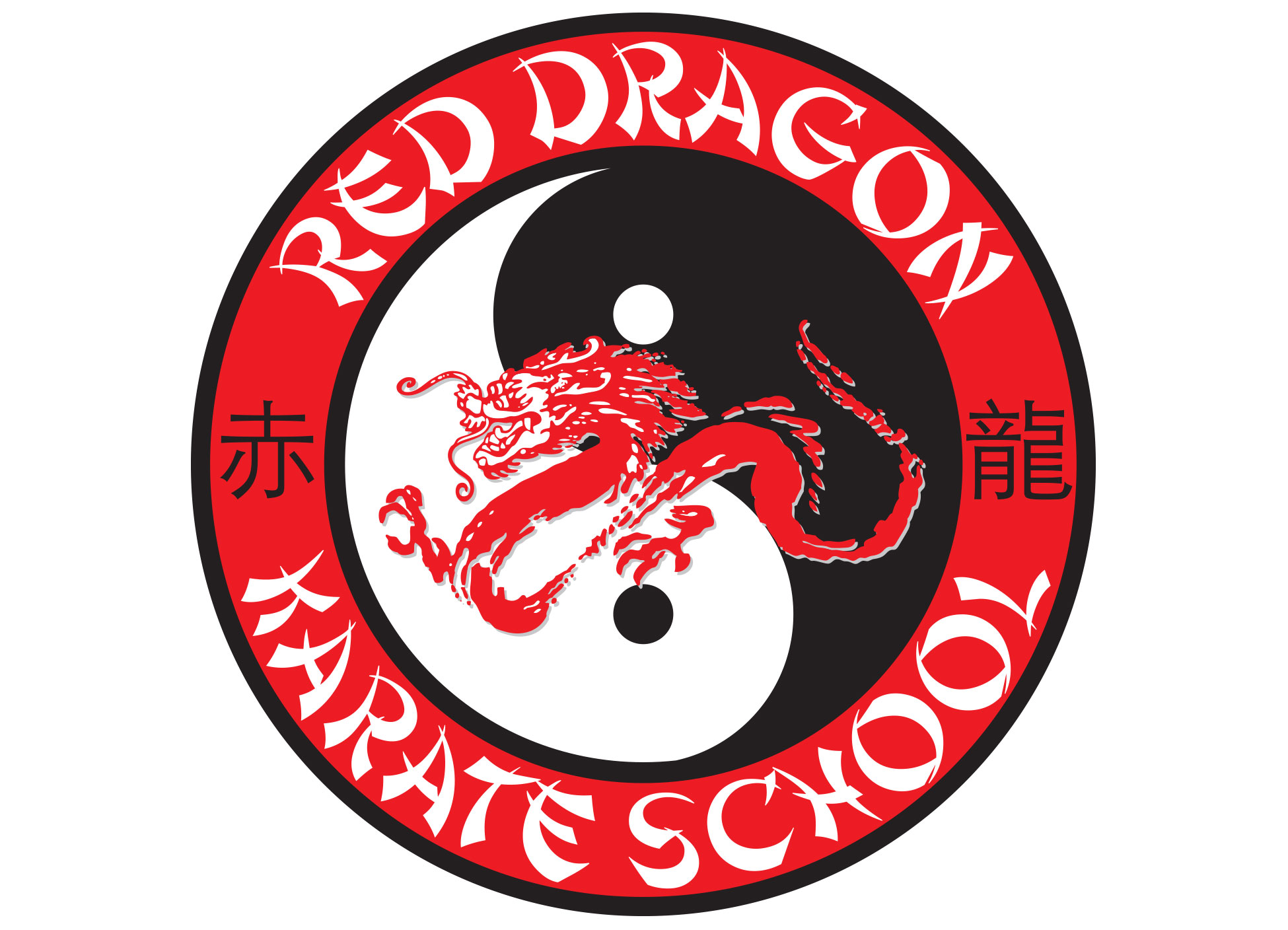 Image of Red Dragon Karate Logo designed and created by Joel Glastetter and Jeff Melander of Red Dragon Karate.