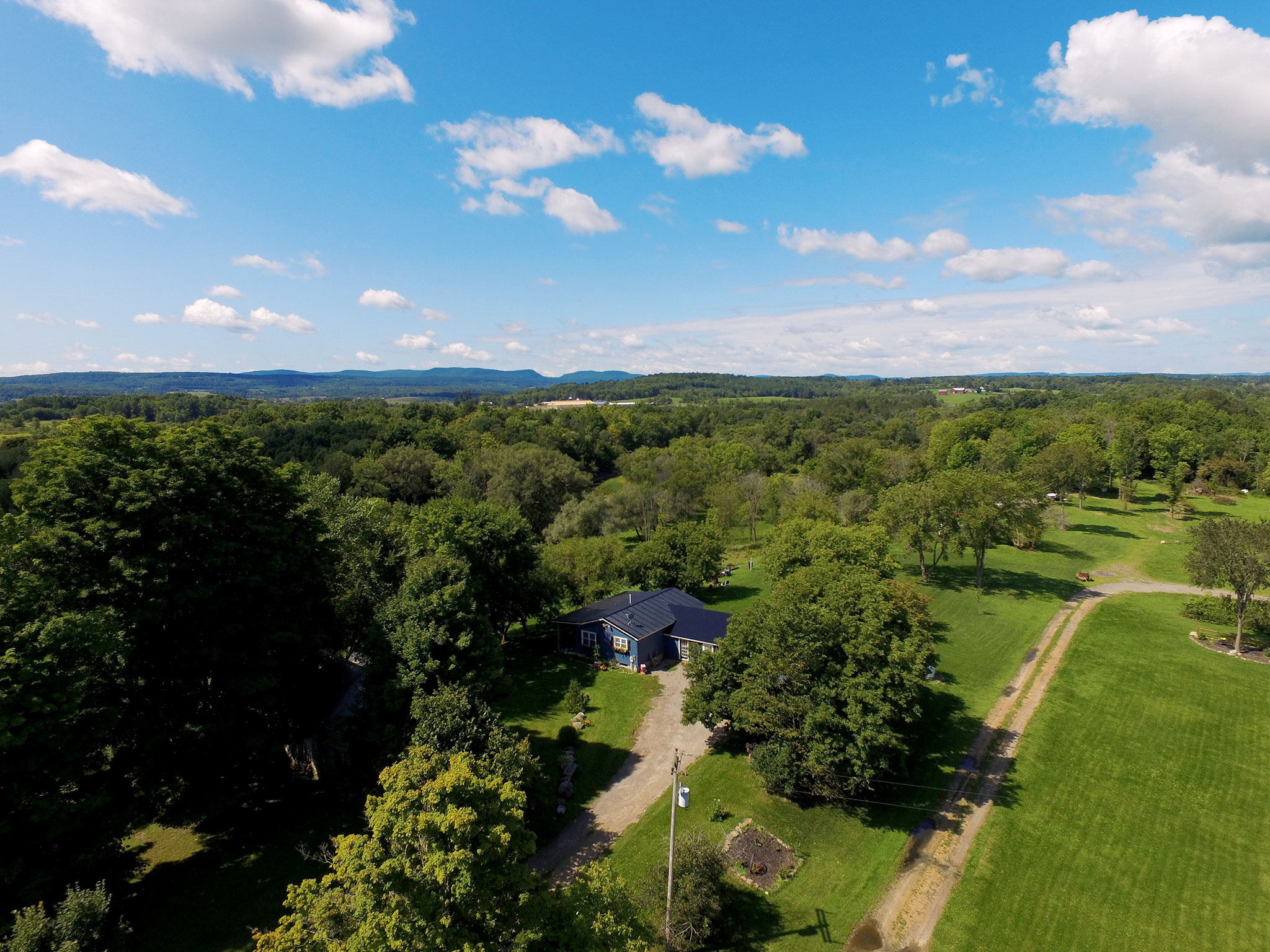 Aerial photo of property in Canajoharie, New York.