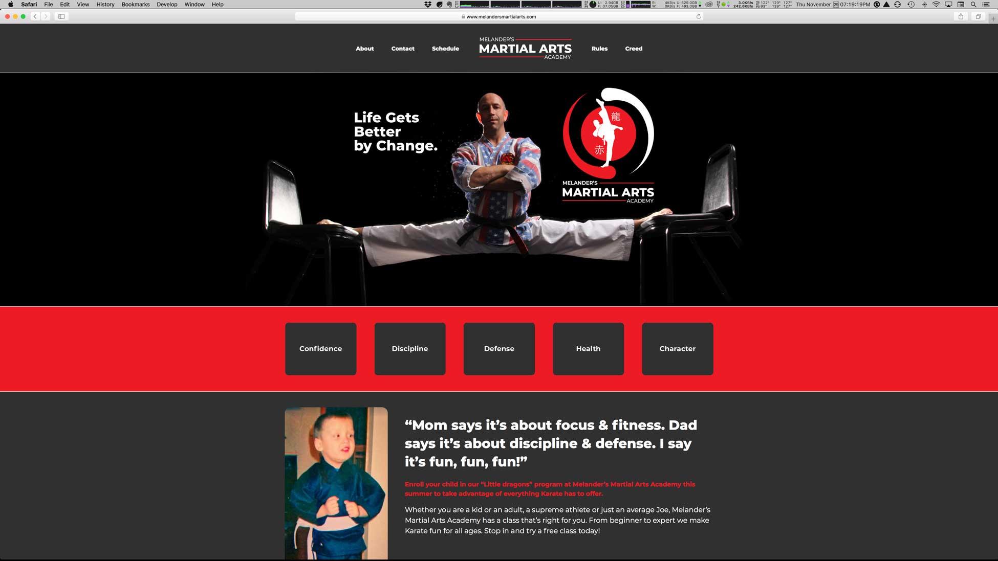 Melander's Martial Arts Academy :: Website Design, Logo and Branding