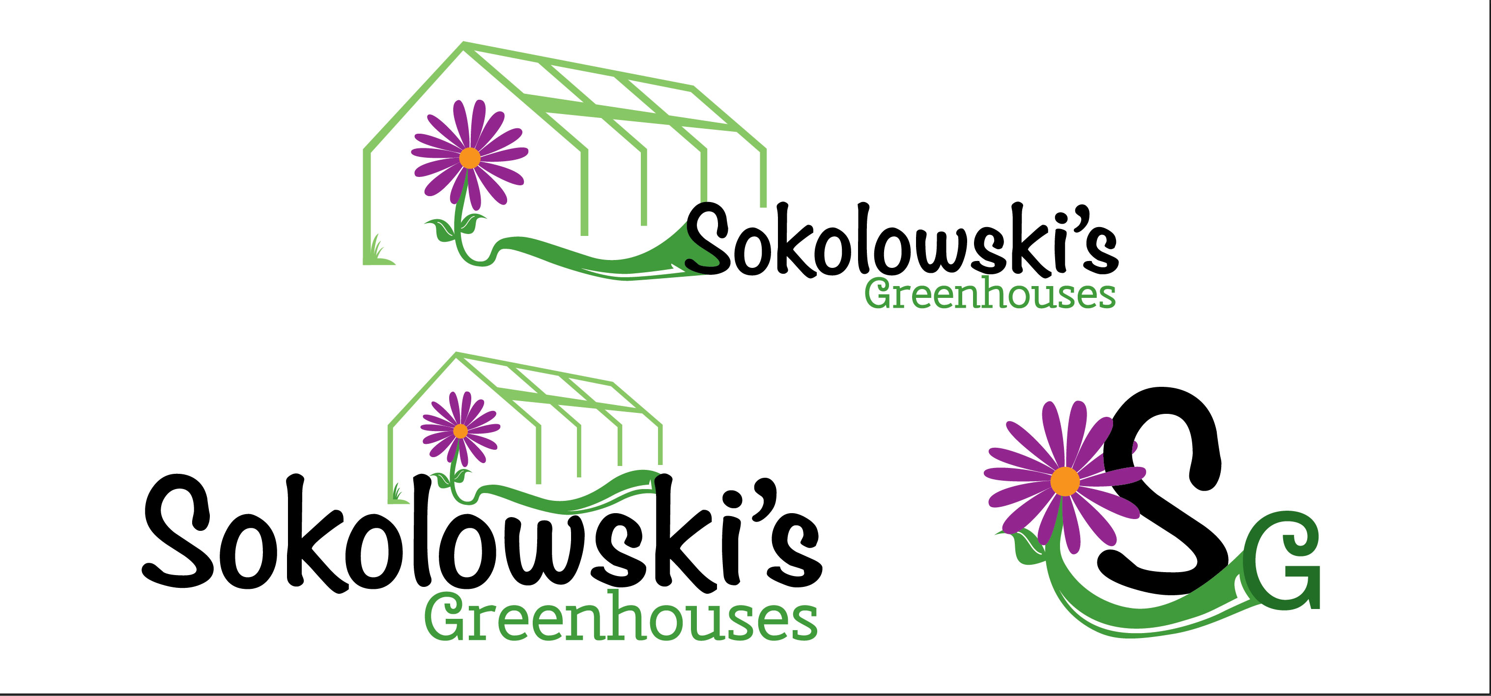 Image of logo design created for Sokolowski's Greenhouses in Clifton Park, New York.