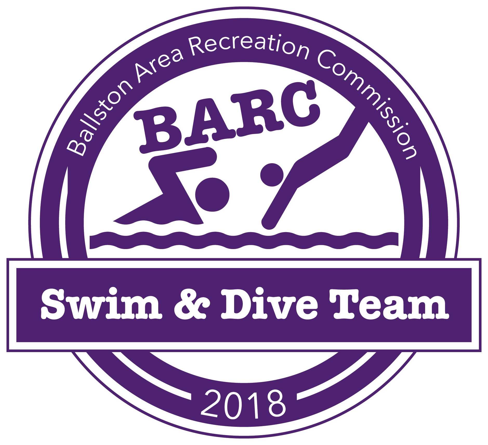 Ballston Area Recreation Commission Swim and Dive Team Logo.