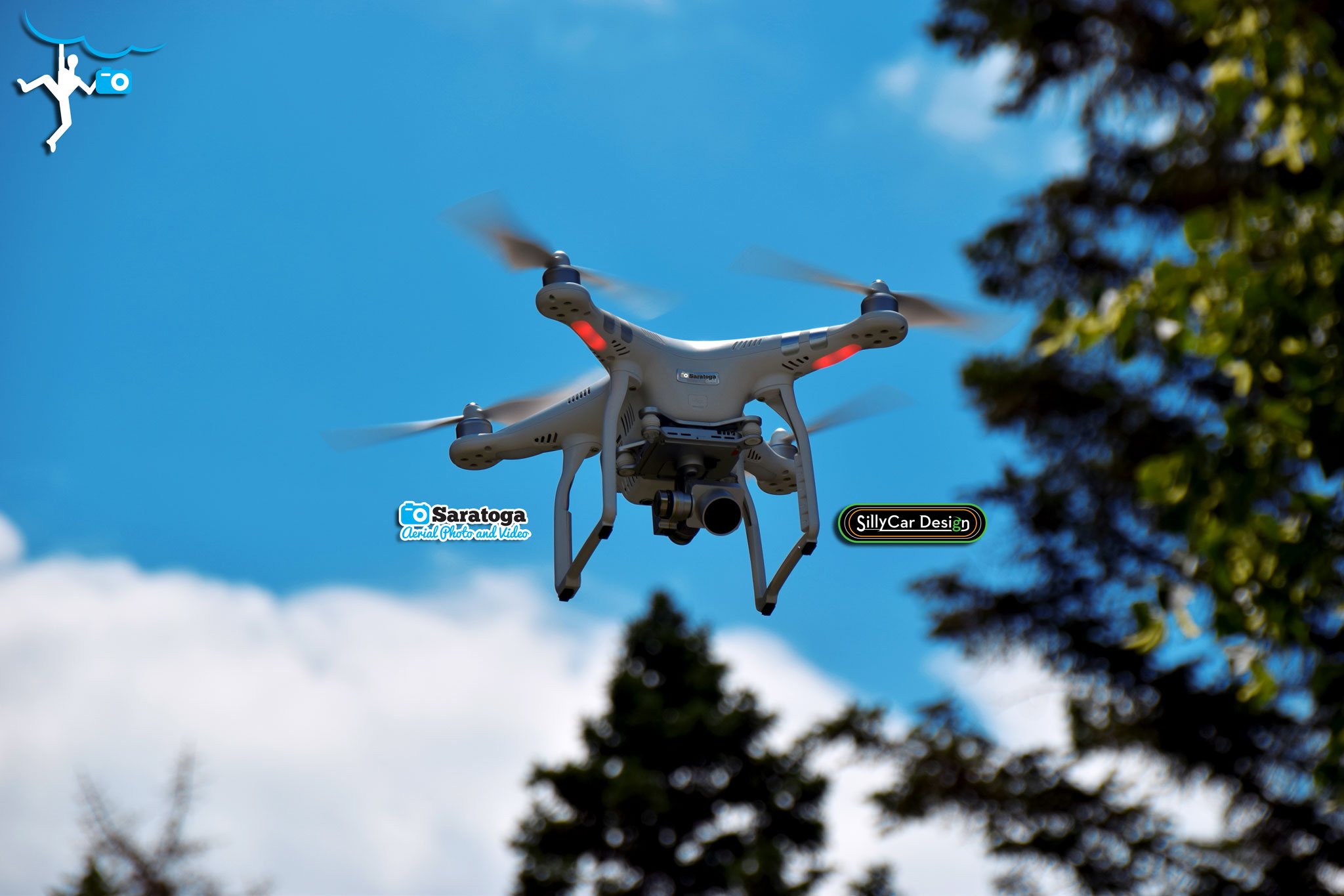 Photo of Small Unmanned Aircraft System (Drone) in flight.